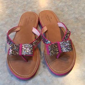 Kate spade pink sparkly flip flops